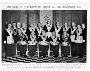 Past Masters and Officers in 1984