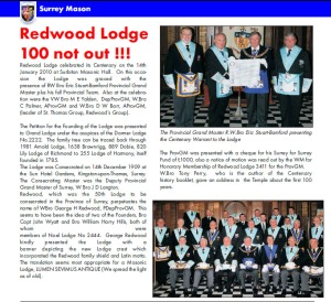 redwood 100 not out
