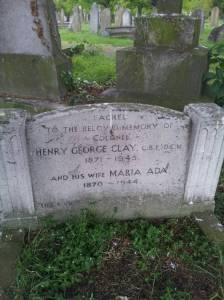 Clays grave in Kingston Cemetary