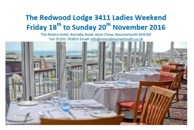 Details Of The Ladies Weekend Are Now On The Website